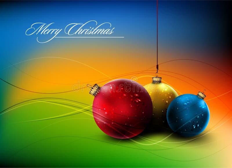 вектор украшения рождества карточки золотистый глянцеватый иллюстрация штока