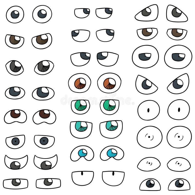 вектор установленный глазами иллюстрация вектора