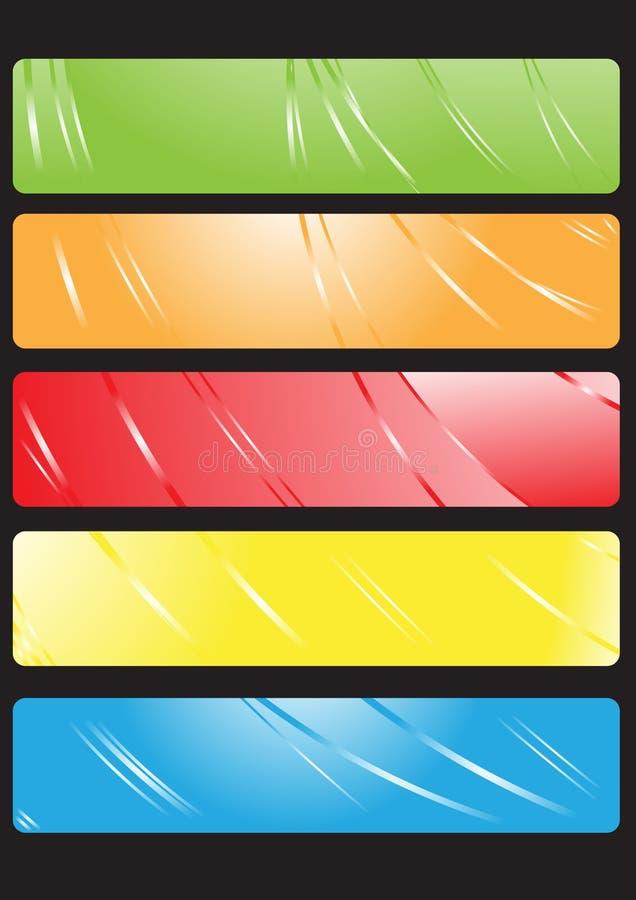 вектор установленный знаменами бесплатная иллюстрация