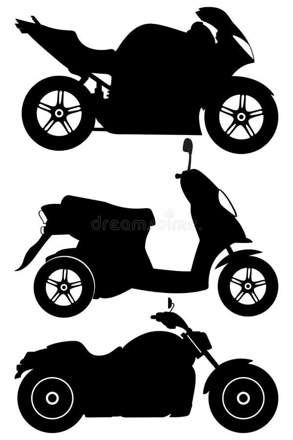 вектор установленный мотоциклами бесплатная иллюстрация