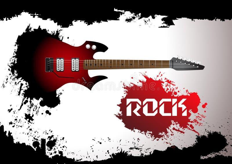 вектор утеса гитары предпосылки иллюстрация штока