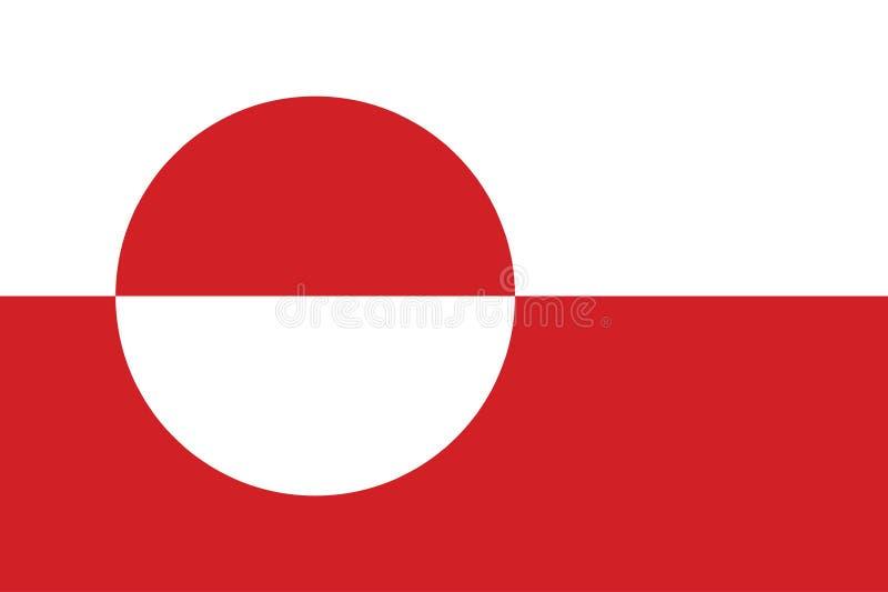 Вектор флага Гренландии иллюстрация вектора