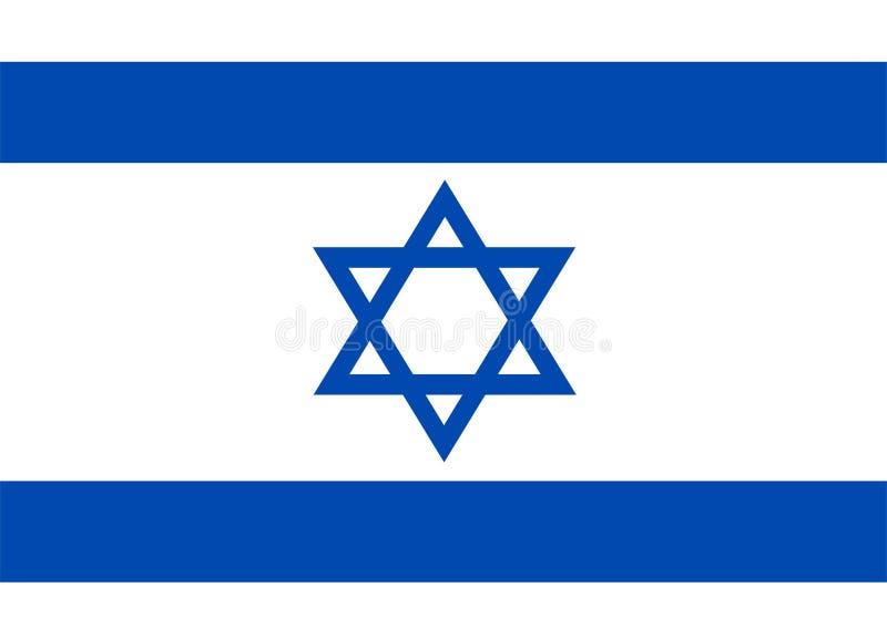 Вектор флага Израиля Иллюстрация флага Израиля иллюстрация вектора