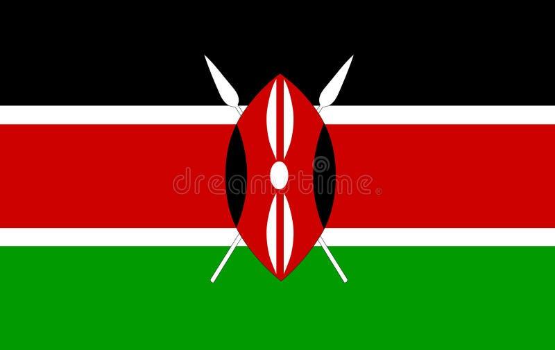 Вектор флага Кении Иллюстрация флага Кении иллюстрация вектора