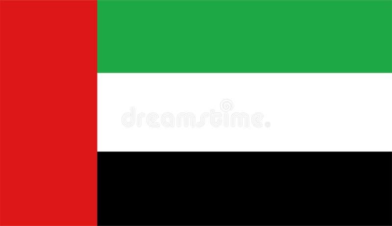 Вектор флага Объединенных эмиратов Иллюстрация флага ОАЭ иллюстрация вектора