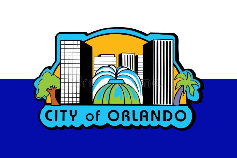 Вектор флага Орландо, Флориды США иллюстрация штока