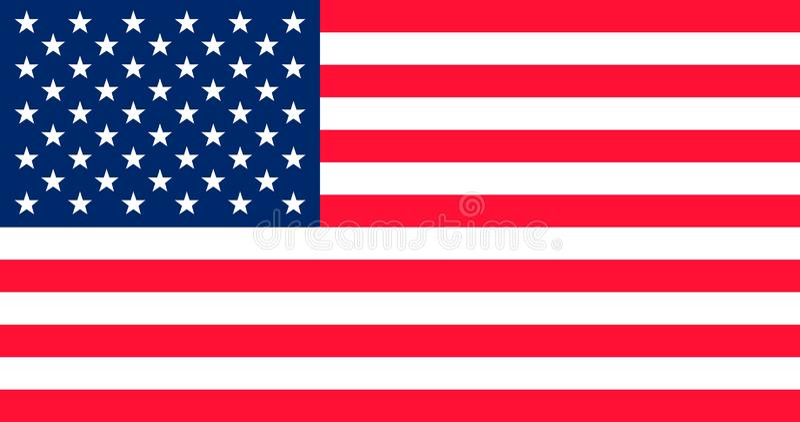 Вектор флага США Государственный флаг США Знамя украшанное блестками звездой Государственный флаг США иллюстрация штока