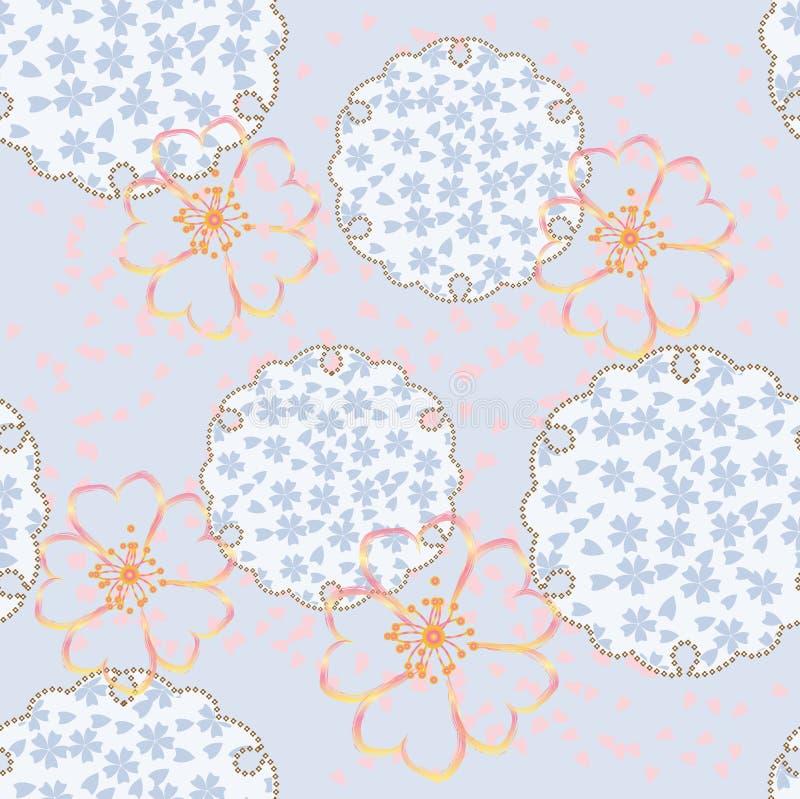 вектор флористического орнамента безшовный бесплатная иллюстрация