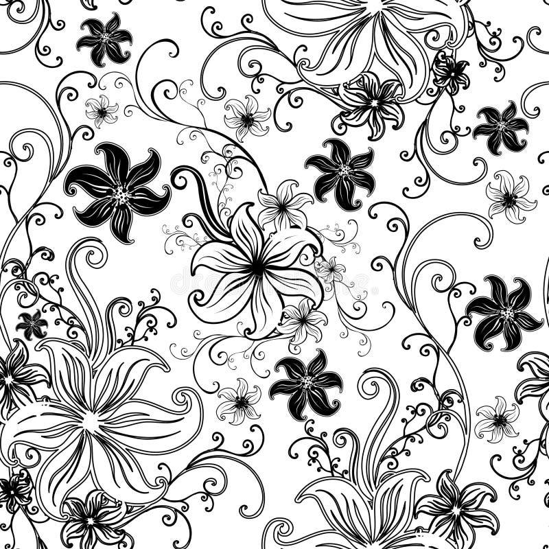 вектор флористической картины безшовный ый бесплатная иллюстрация