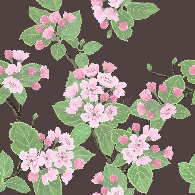 вектор флористической картины безшовный иллюстрация вектора