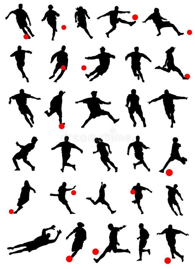 вектор футбола собрания иллюстрация штока