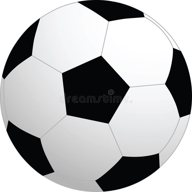 вектор футбола шарика стоковое изображение