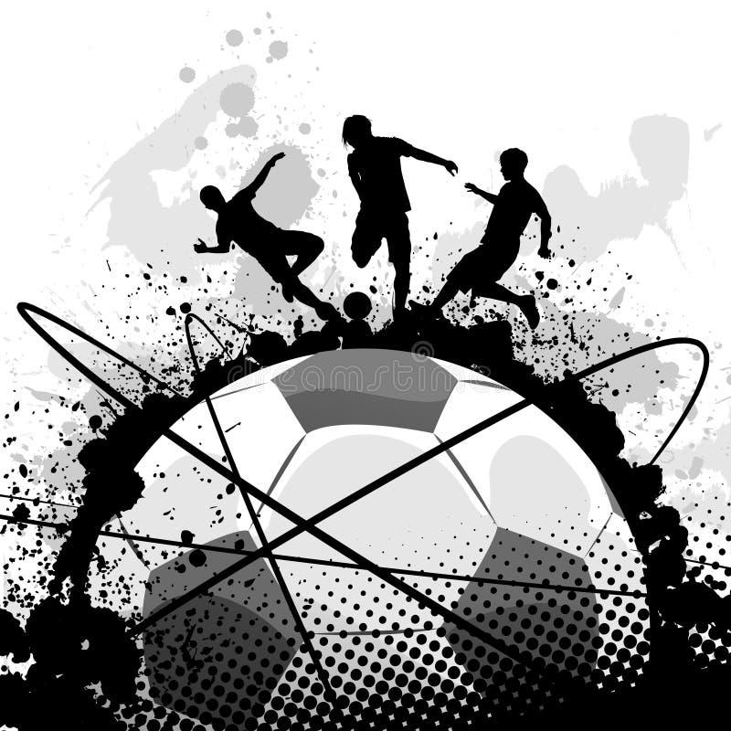 вектор футбола grunge иллюстрация вектора