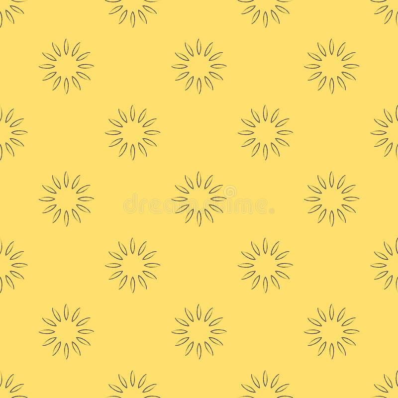 вектор флористической картины безшовный иллюстрация штока