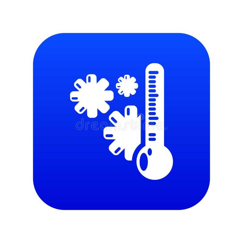 Вектор холодного значка голубой бесплатная иллюстрация