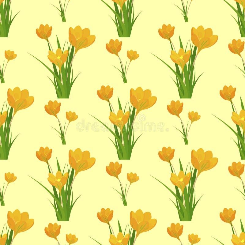 Вектор цветения лист чертежа красивого дизайна природы украшения дизайна предпосылки картины тюльпана цветка безшовного флористич иллюстрация вектора