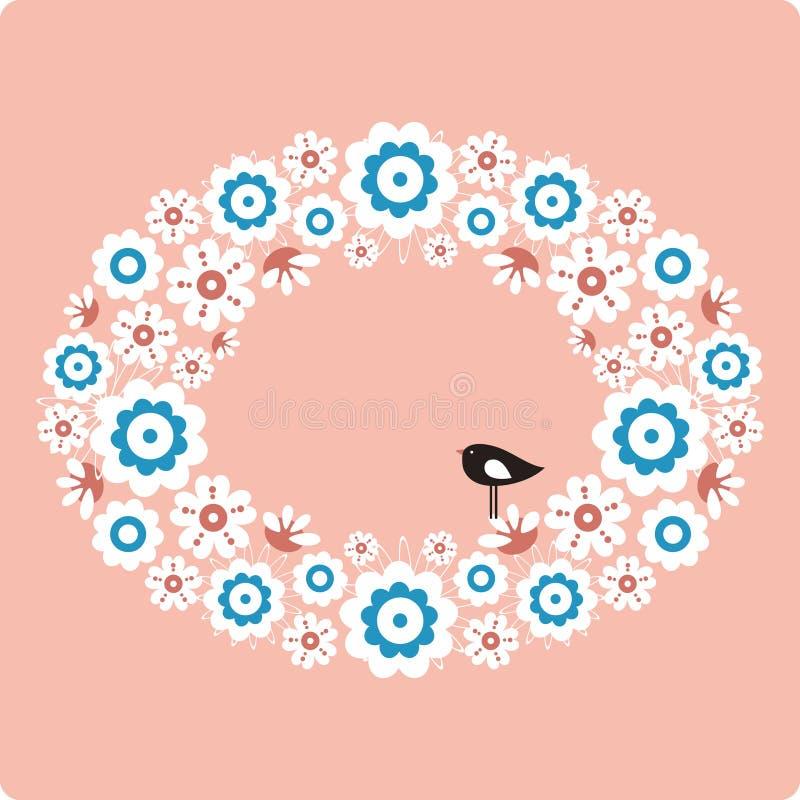 вектор цветка птицы бесплатная иллюстрация