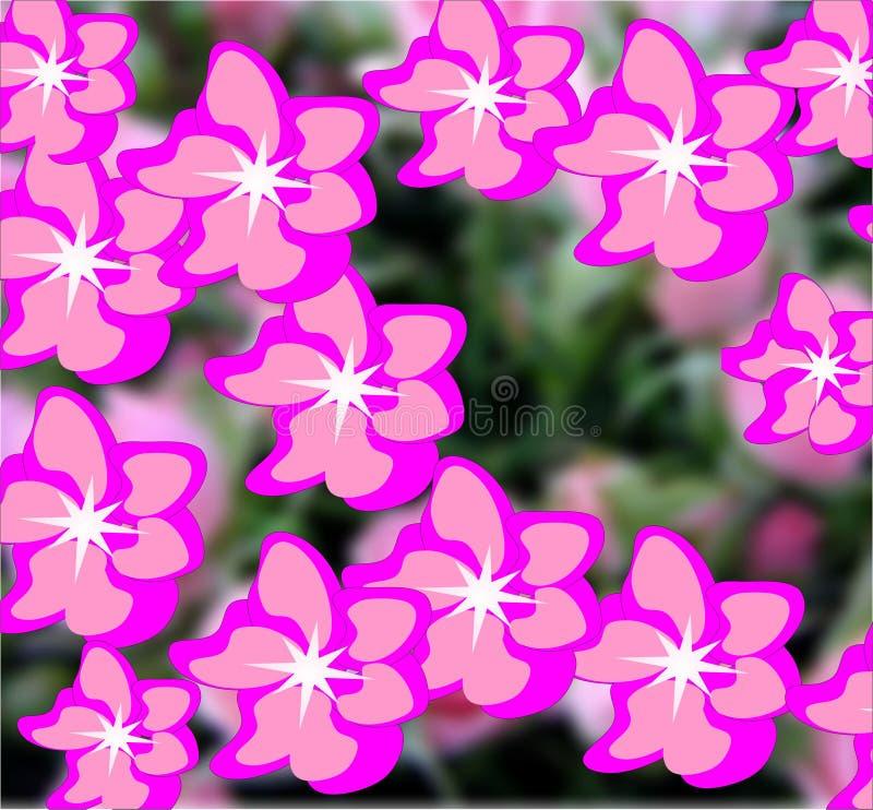 Вектор, цветки, лето, флористическая предпосылка, яркие цвета, абстракция для флористической предпосылки стоковые изображения rf