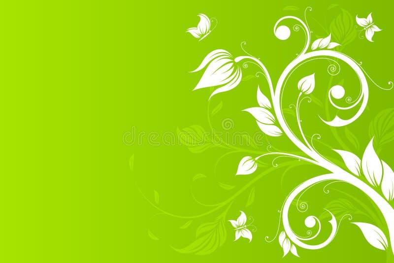 вектор цветков бабочки предпосылки бесплатная иллюстрация