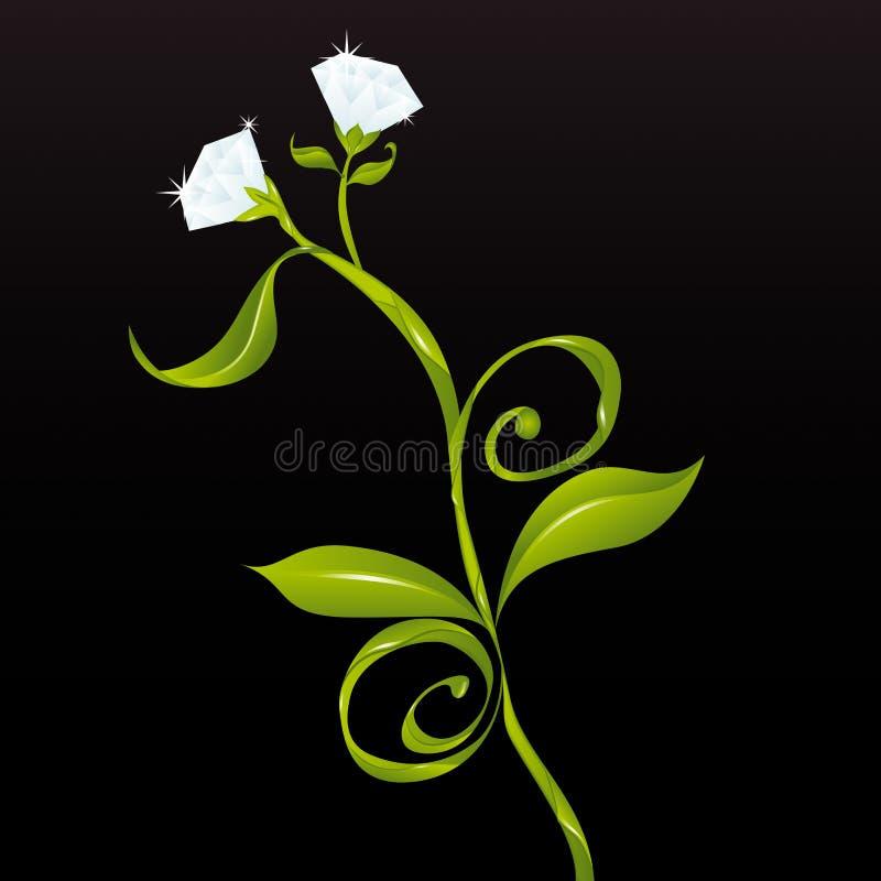 вектор цветков диамантов Стоковое фото RF