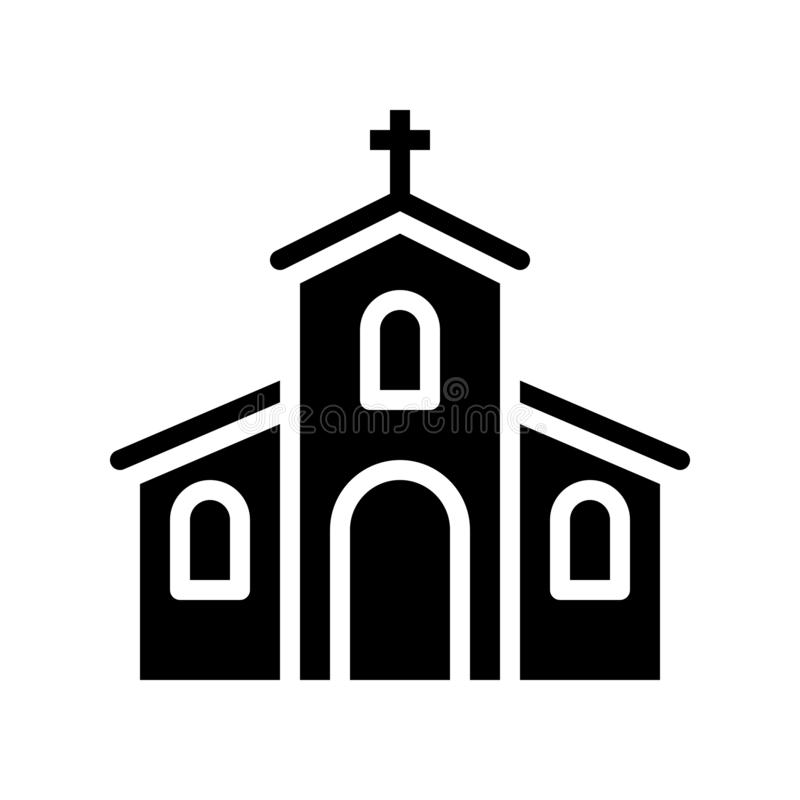 Вектор церков, пиршество линии значка St. Patrick иллюстрация штока