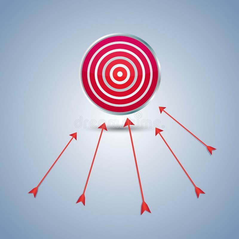 вектор цели иллюстрации стрелки стоковые фотографии rf
