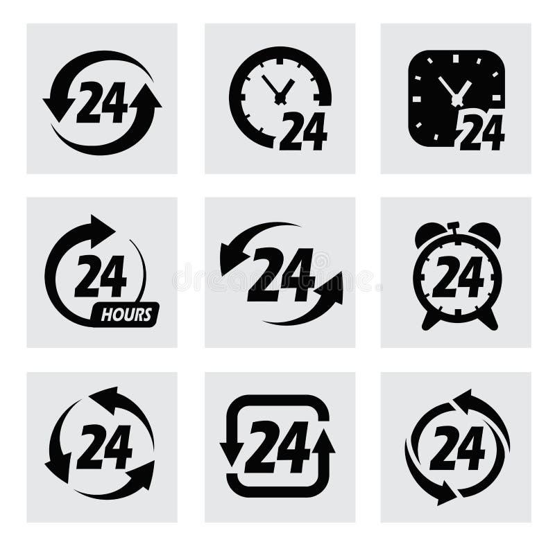 Вектор 24 часа символов иллюстрация штока