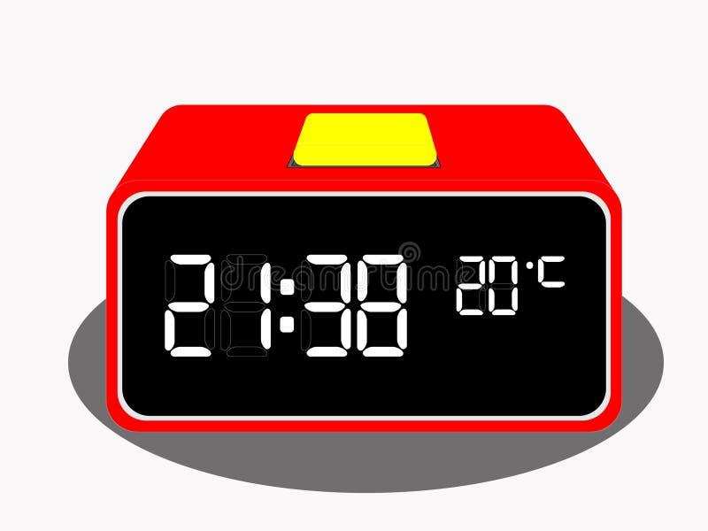 Вектор часов таблицы цифров иллюстрация штока