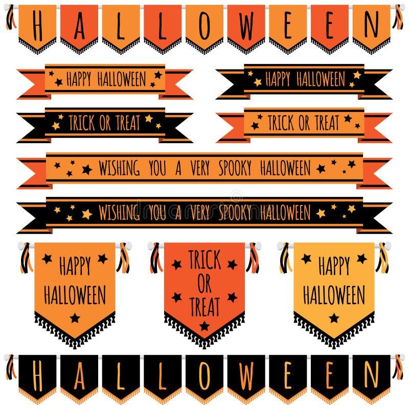 1 вектор части иллюстрации halloween знамен иллюстрация штока