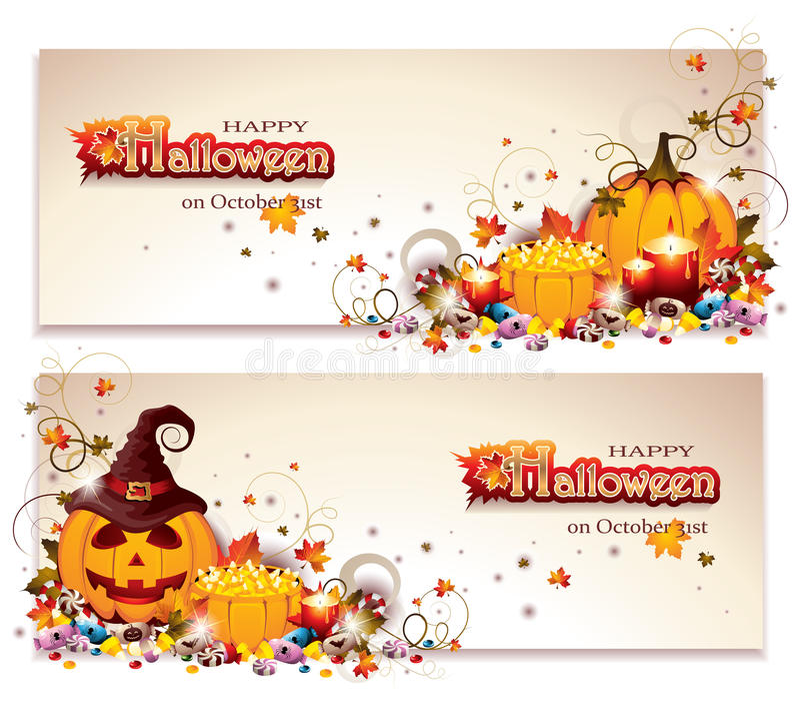 1 вектор части иллюстрации halloween знамен иллюстрация вектора