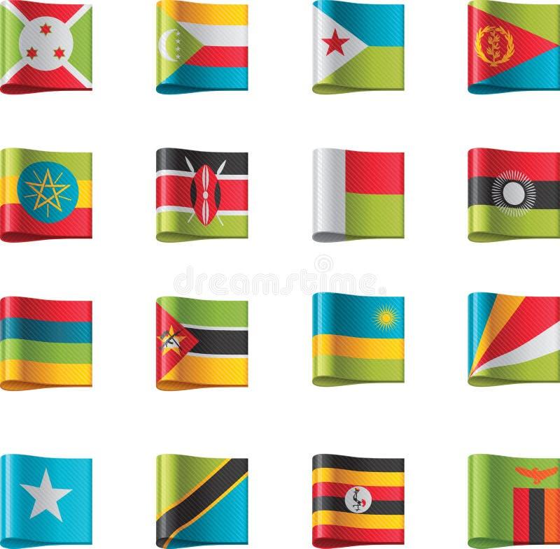 вектор части 9 флагов Африки иллюстрация штока