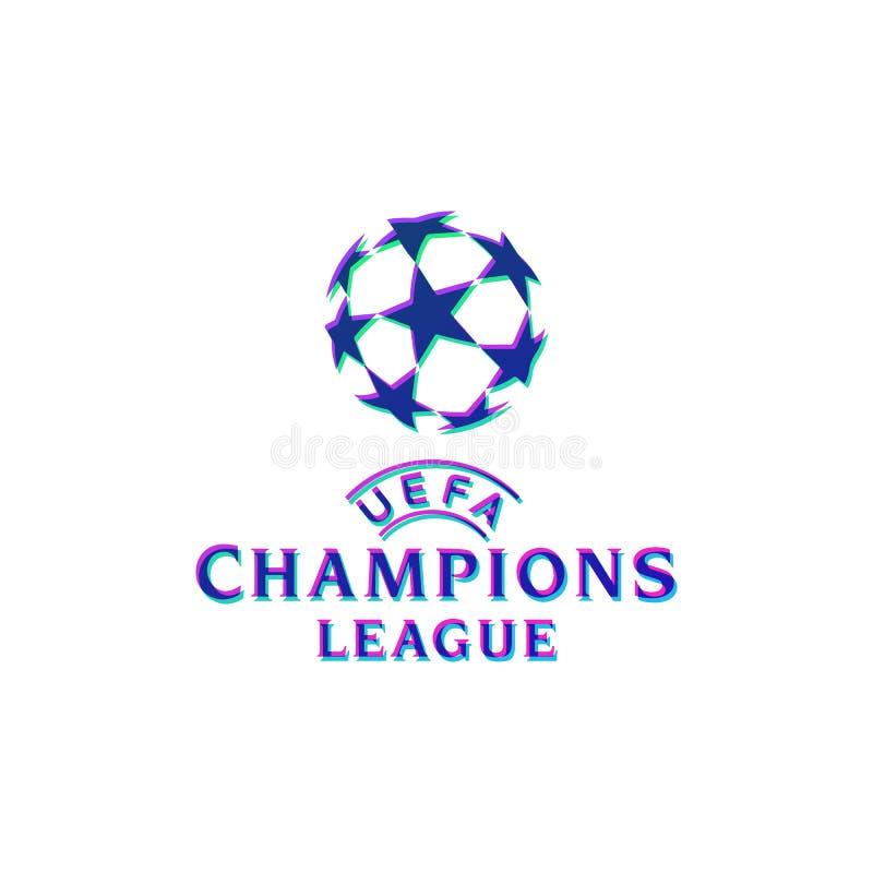 вектор чемпионата логотипа лиги чемпионов uefa официальный иллюстрация вектора