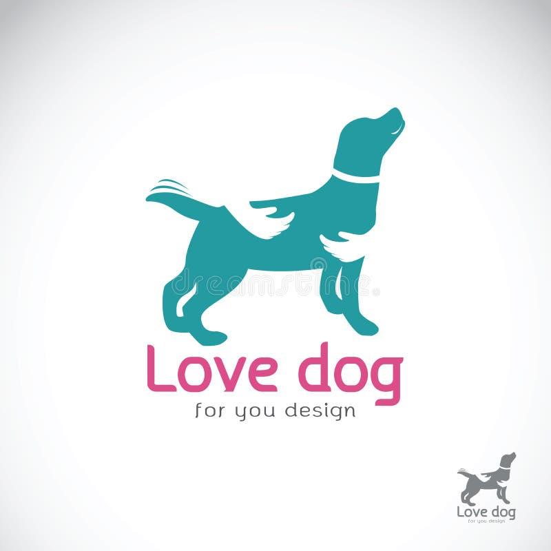 Вектор человеческой руки которая обнимает собаку на белой предпосылке любимчик иллюстрация вектора