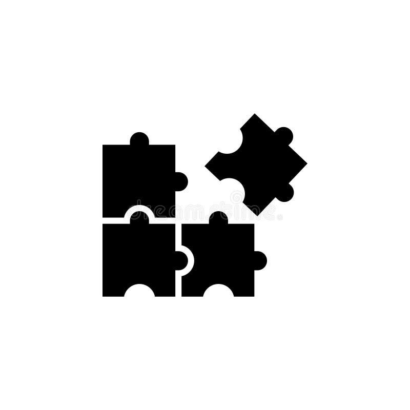 Вектор шаблона графического дизайна значка головоломки иллюстрация вектора