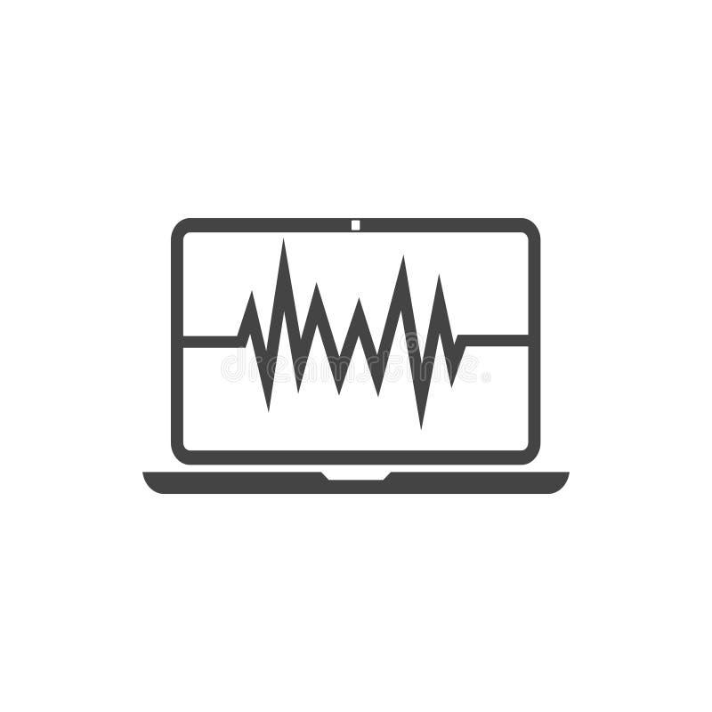 Вектор шаблона графического дизайна значка монитора ИМПа ульс иллюстрация вектора