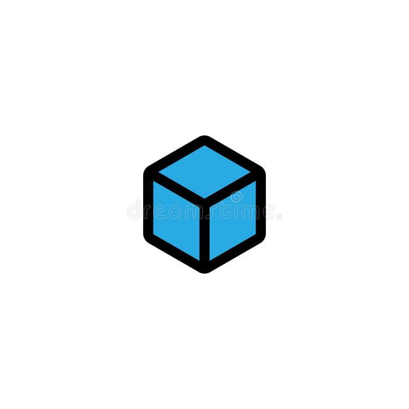 Вектор шаблона графического дизайна куба изолировал иллюстрация штока