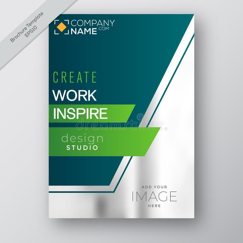 Вектор шаблона дизайна рогульки брошюры годового отчета дела, современная кассета плаката издания, план в A4 размере, вектор запа бесплатная иллюстрация