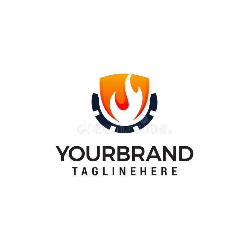Вектор шаблона идеи проекта логотипа индустрии пламени Логотип нефтедобывающей промышленности иллюстрация штока