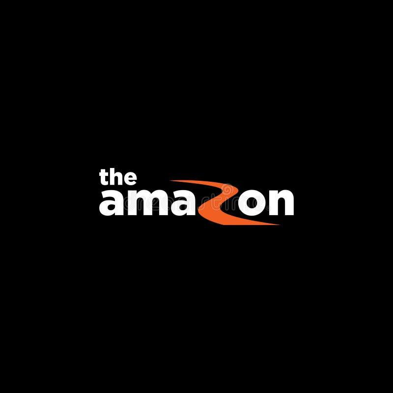 Вектор шаблона логотипа Амазонки иллюстрация вектора