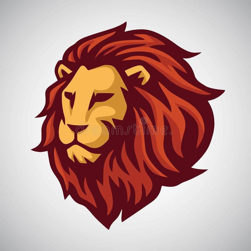 Вектор шаблона логотипа талисмана льва иллюстрация штока