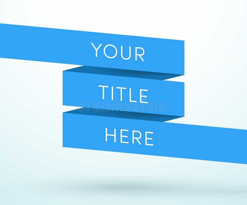 Вектор шаблона полной страницы ленты знамени 3d названия бесплатная иллюстрация