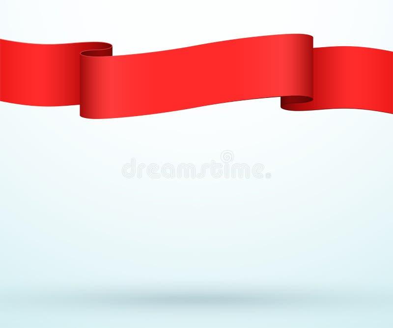 Вектор шаблона полной страницы прокладки ленты знамени 3d названия иллюстрация вектора