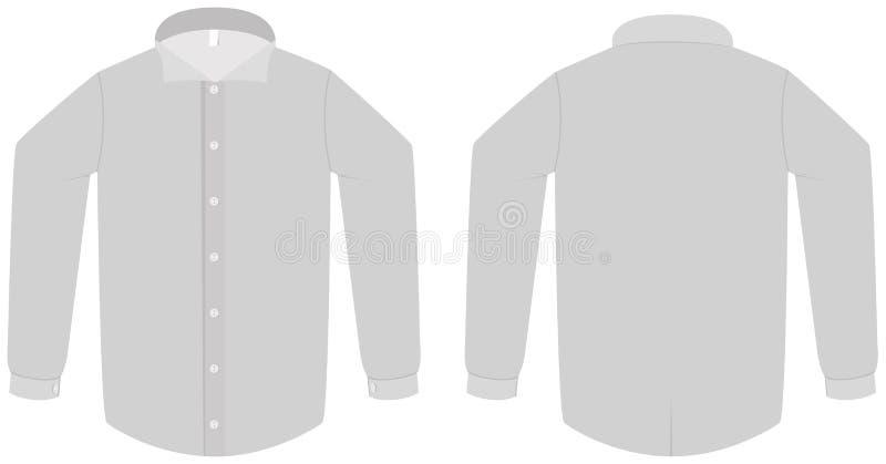 вектор шаблона рубашки иллюстрации платья кофточки иллюстрация вектора