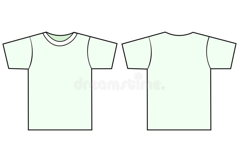 вектор шаблона рубашки t unisex иллюстрация вектора