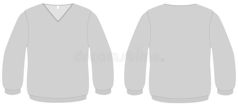 вектор шаблона v свитера шеи иллюстрации бесплатная иллюстрация