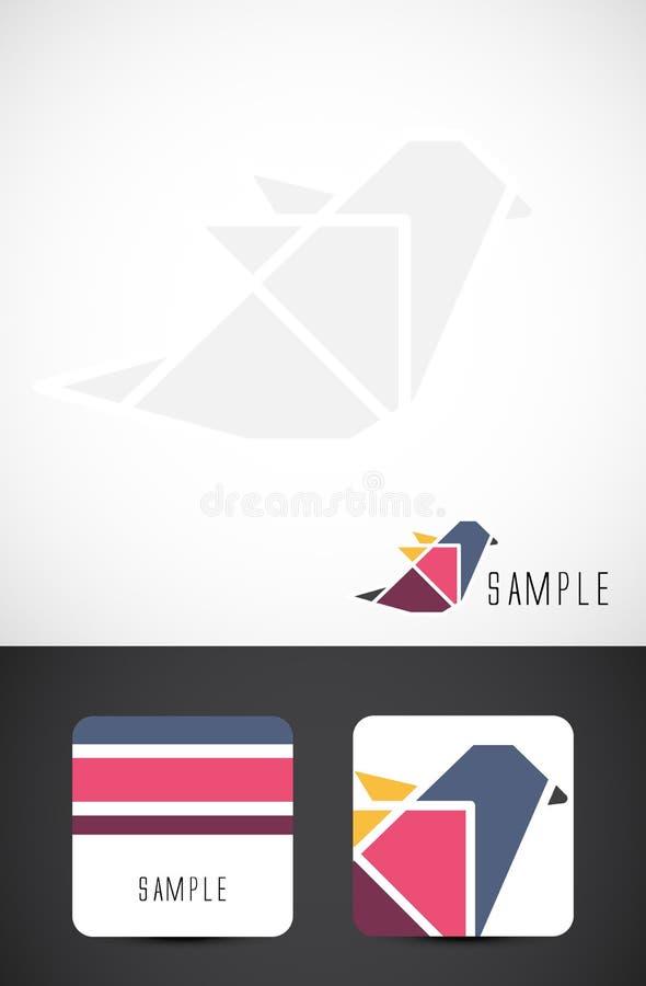 вектор шаблонов иконы визитной карточки птицы бесплатная иллюстрация