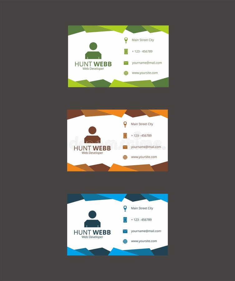 Вектор шаблона дела карточки id стоковые фото