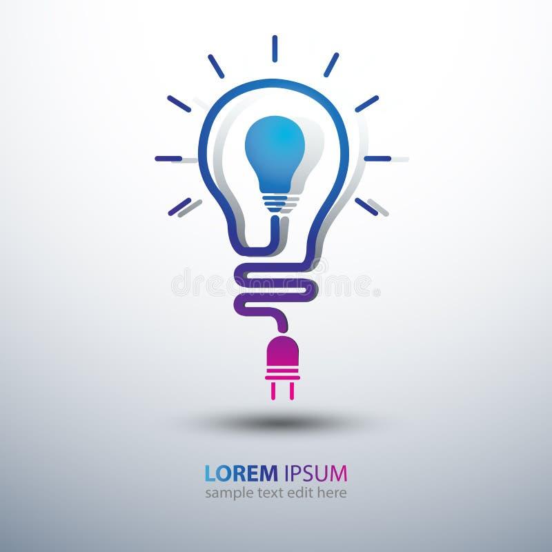 вектор шаблона логоса света идеи икон элементов конструкции собрания шарика установленный иллюстрация штока