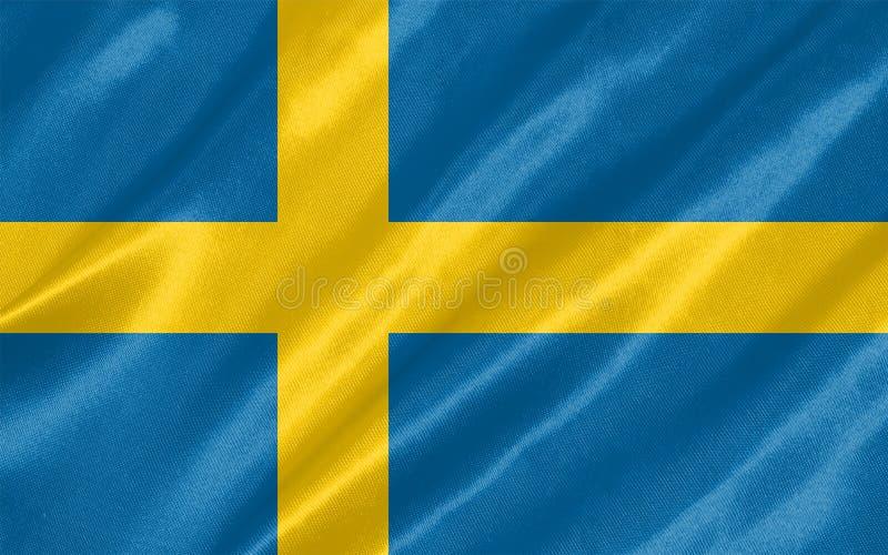вектор Швеции типа имеющегося флага стеклянный иллюстрация вектора
