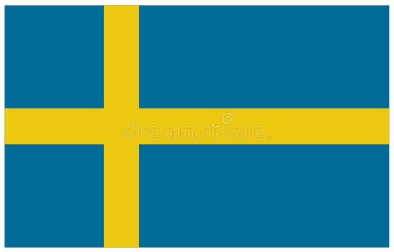 вектор Швеции типа имеющегося флага стеклянный иллюстрация штока